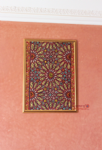 Moroccan Mosaic  Oil on Canvas Original Red 72 cm x 55 cm